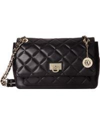 DKNY Quilted Nappa Large Flap Pocket Shoulder Bag - Lyst
