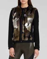 BCBGMAXAZRIA Bcbg Max Azria Jacket  Dimitri Faux Fur Combo - Lyst