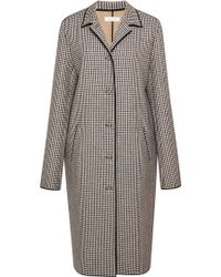 Nina Ricci Houndstooth Wool Coat - Lyst