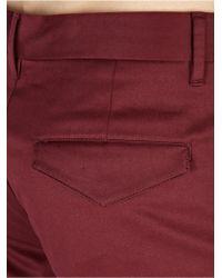 Acne Studios Men'S Burgundy 'Adrian' Shorts - Lyst