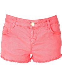 Jane Norman Coloured Denim Shorts - Lyst