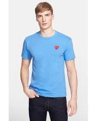 Comme des Garçons 'Red Emblem' Cotton Jersey T-Shirt - Lyst