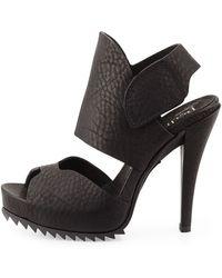 Pedro Garcia Pansy Leather Up-Front Platform Sandal - Lyst