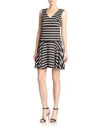 4.collective Striped Drop-Waist Dress - Lyst