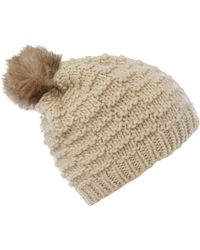 Linea Weekend - Line Knit Beanie With Pom Pom - Lyst