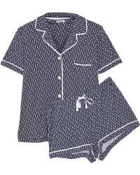 DKNY The Novelist Polka-Dot Cotton-Blend Jersey Pajama Set - Lyst