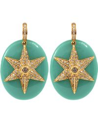 Miriam Salat Blue Starfish Earrings - Lyst