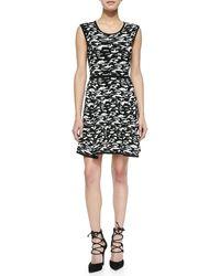 Milly Camo-print Jacquard Flare Dress - Lyst