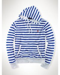 Polo Ralph Lauren Striped Terry Hoodie - Lyst