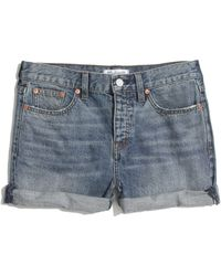 Madewell Denim Boyshorts in Planetarium - Lyst
