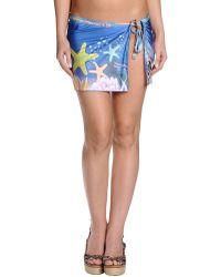 Pin Up Stars Blue Sarong - Lyst