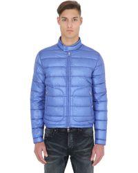 Moncler Acorus Lightweight Nylon Down Jacket - Blue