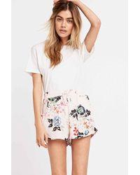 Somedays Lovin - Golden Fields Floral Shorts In Pink - Lyst