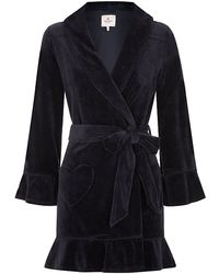 e4a6869250 Juicy Couture - Velour Ruffle Robe - Lyst