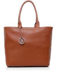 Armani Jeans Eco Saffiano Shopper Bag - Lyst