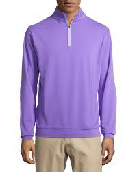 Peter Millar Jersey-knit 12-zip Pullover - Lyst
