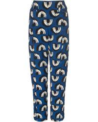 Rachel Comey Royal Multi Jacquard Siren Trousers - Lyst