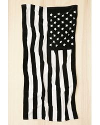 Urban Outfitters American Flag Black + White Beach Towel - Lyst