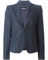DSquared² Denim Blazer - Lyst
