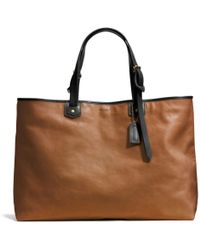 Coach Bleecker Leather Holdall brown - Lyst
