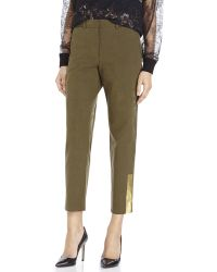 Suno Olive Cropped Pants green - Lyst
