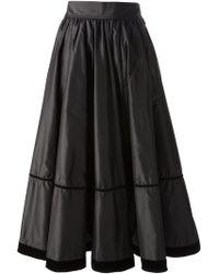 Yves Saint Laurent Vintage Flared Skirt black - Lyst