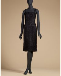 Dolce & Gabbana | Cord Lace Sheath Dress With Rear Jewel Buttons | Lyst