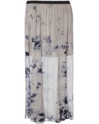 Raquel Allegra Long Tie Dye Skirt - Lyst