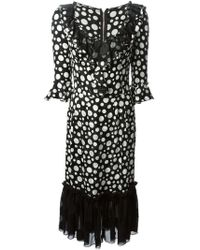 Dolce & Gabbana Polka Dot-Print Dress - Lyst