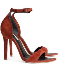 H&M Suede Sandals - Lyst