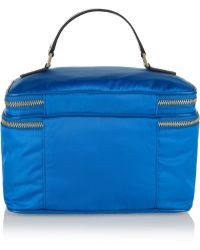 Anya Hindmarch Vanity Kit Patent Leathertrimmed Cosmetics Case - Lyst