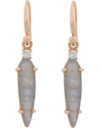 Irene Neuwirth Diamond Labradorite  Rose Gold Drop Earrings - Lyst