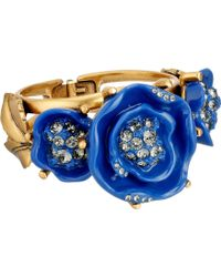 Oscar de la Renta Resin Rose Bracelet - Lyst