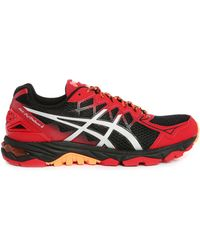 Asics | Gel Fujitrabuco 4 Red/black Trainers | Lyst
