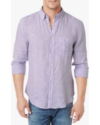 7 For All Mankind Linen Oxford Shirt - Lyst
