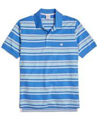Brooks Brothers Original Fit Multi Bar Stripe Polo Shirt - Lyst