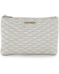 Rebecca Minkoff - Quilted Love Pouch - Pewter - Lyst