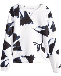 H&M Patterned Sweatshirt - Lyst