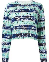 Kenzo Blue Intarsia Sweater - Lyst