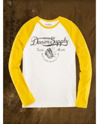 Ralph Lauren Cotton Graphic Baseball Tee - Lyst