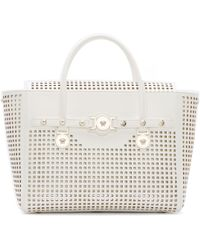 Versace White Perforated Leather Bag - Lyst
