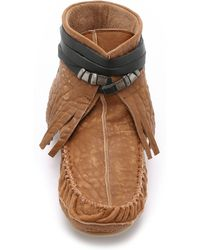 Free People - Eastwood Moccasins - Chocolate - Lyst