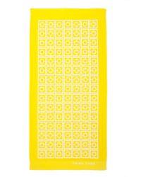 Trina Turk Palm Spring Block Towel yellow - Lyst