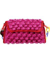 M Missoni Handbag Bag Shoulder Raffia - Lyst