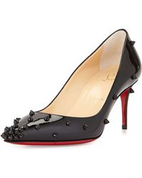 Christian Louboutin - Degraspike Studded Leather Pumps - Lyst
