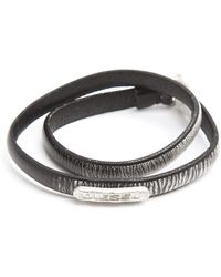 Diesel Atexo Black And Grey Bracelet - Lyst