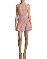 Carven Fancy Striped Tweed Dress - Lyst