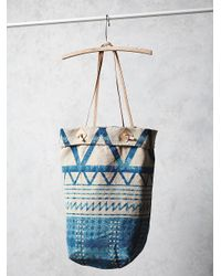 Free People Womens Faded Sedona Tote blue - Lyst