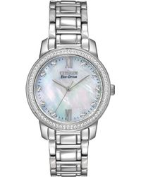 Citizen Women'S Eco-Drive Stainless Steel Bracelet Watch 35Mm Em0110-51D - A Macy'S Exclusive - Lyst