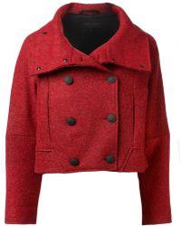 Rag & Bone Red Harper Coat - Lyst